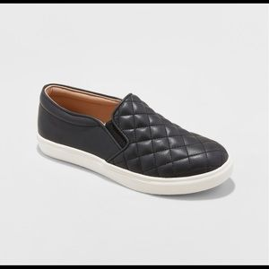 Flat quilted sneakers